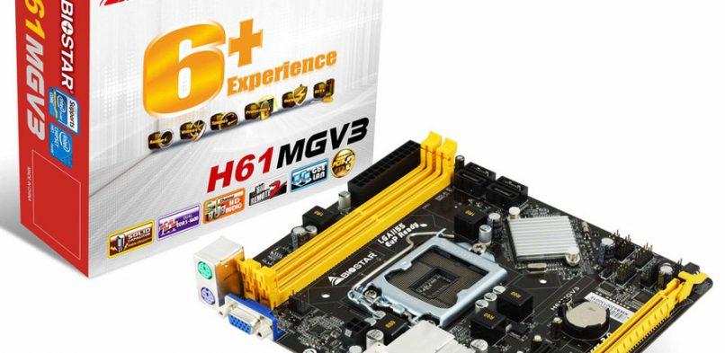 Placa Mãe Biostar H61mgv3 V8.0 Lga1155 – Sem Processador